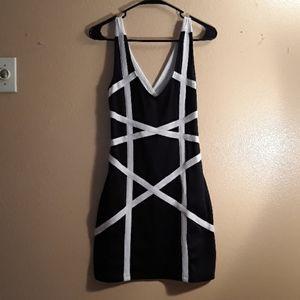 Forever21 Black & White Dress